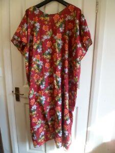 Beautiful Women's Plus Size Maxi Kaftan Dress sz 30 /32 /34 /36 BN Handmade