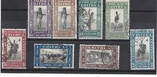 COLONIA ERITREA:  PITTORICA DEL 1929 SERIETTA N.155-162 USATI ORIGINALI