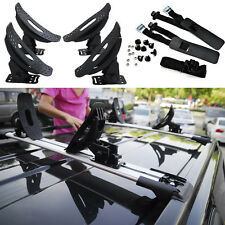 Universal Kayak Carrier Roof Rack Cross Bars 1 Set/4 Saddles Canoe Boat w/Straps