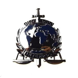 UN INTERNATIONAL INTERPOL ICPO METAL PIN BADGE BROOCH