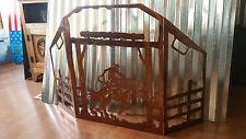 Beautiful Rustic Bucking Bronc Cowboy fireplace screen. Hand made in Waco tx