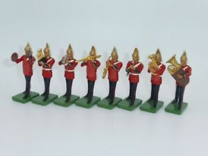 William Britains Metal Life Guard Band  Figures x 8 Made in England