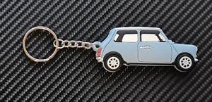 Classic Mini Key Ring Blue Cooper Austin BL