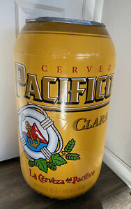 """NEW! Pacifico Clara Beer Can Shaped Inflatable Blow-Up 32"""" Tall"""
