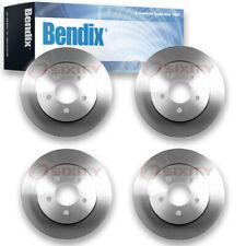 4 pcs Bendix PRT5153 Brake Rotor - Pair Left Right Disc PGD5153 MX5153 jq