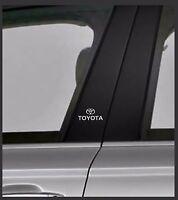 TOYOTA Chrome Vinyl Decals/stickers Car Door Pillar, Car Windows Etc.. X 2