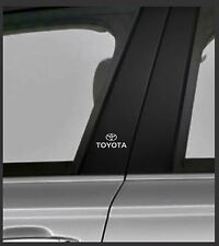 TOYOTA Chrome Vinyl Decals/stickers Car Door Pillar, Car Windows Etc.. X 2