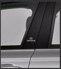 Toyota de vinilo en las Cromo/Pegatinas Coche montante de puerta, ventanas de coche, etc. X 2