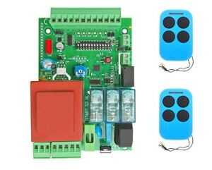 Centrale Quadro scheda di comando scorrevole garage basculante + 2 TELECOMANDI