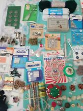 Lot of sewing supplies contents of sewing box misc parts, pins. Needles, buttons