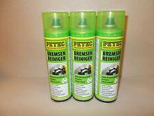 3 Dosen 500ml Petec Bremsenreiniger Teilereiniger Brake Cleaner 70061