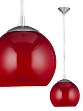 Plafonniers et lustres rouge moderne en verre pour la maison
