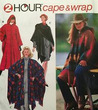 NEW 1994 'SIMPLICITY' PATTERN 9223 HOODED CAPE & WRAP  ONE SIZE