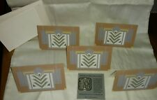 Frank Lloyd Wright The Meyer May House Carpet Design Note Cards & Book Mark