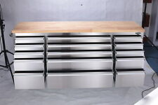 Thor 72 inch, 15 drawer stainless steel tool chest. FLASH SALE SAVE £££