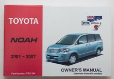 Toyota Noah 2001 to 2007 Owner's Manual /Handbook & Service Record Booklet