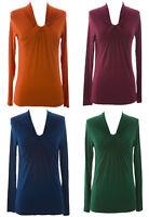 August Silk Women's Long Sleeve Knot Collar Blouse NWT $58