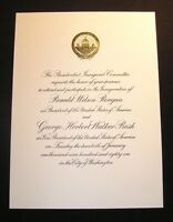ORIGINAL 1981 RONALD REAGAN INAUGURATION INVITATION Inaugural Official NICE!