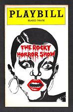 """Tim Curry """"Rocky Horror Show"""" Fleischklops 1975 Flop Playbill mit Ticket Stubs."""