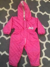 Vintage Kids Lapin Snow Suit 2T Made In Italy Pink Cat