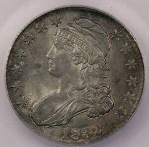 1832-P 1832 Capped Bust Half Dollar ICG MS63 0-102 super original!