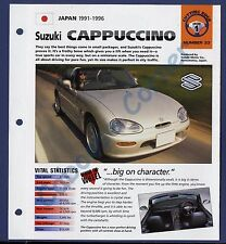 Suzuki Cappuccino IMP Brochure Specs 1991-1996 Group 1, No 33