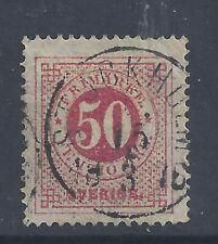 SWEDEN 1872  50ö  CARMINE   PERF 14  USED  SG 25