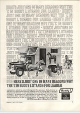 1963 PAPER AD Buddy L Stables Toy Horse Trailer Van 3 Horses