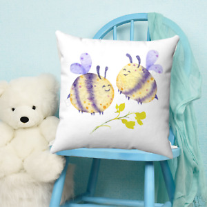 Bumble Bee Childrens Throw Pillow - Nursery Room - Kids Bedroom Decor - Gift