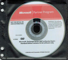 Microsoft Exchange Server Standard Edition 2007 w/SP1 x64 & CD PRODUCT