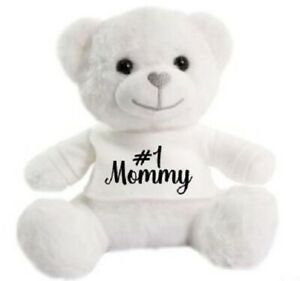 Number 1 Mommy Mothers day super soft cuddly Christmas gift Birthday Teddy Bear