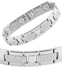 Armband Gliederarmband Edelstahl Silbern von AKZENT 21,5cm x 14mm
