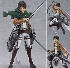 "6"" MAX Factory Figma 207 Attack on Titan Eren Yeager Action PVC Figure Genuine"
