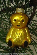 Baby Teddy Bear Old World Ornament European Glass