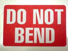 100 2 x 3 Do Not Bend Label Stickers fan folded