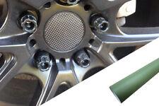 Para Muchos Vehículos 4x Llantas Aluminio Ejes Tapa Diseño Lámina Army Verde