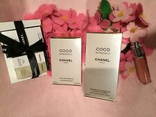 CHANEL COCO MADEMOISELLE PARFUM 100ML  AND BODY LOTION 100ML  +GIFTS SET SALE