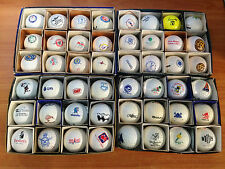 Vintage Golf Ball Collection 48 Monogrammed Balls from Various Clubs, Comps