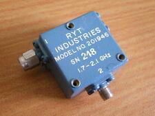 RYT Industries 201946 RF Microwave Isolator 1.7 - 2.1 GHz 20 dBm SMA