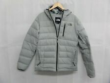 The North Face Men's Light Grey Puffer Jacket Size Medium Nice Used Condition