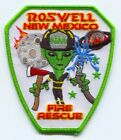 Roswell Fire Rescue Department Patch New Mexico NM Alien Area 51