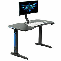 "VIVO Black Electric 47"" Gaming Desk 