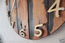 Reloj De Pared De Madera Rústica De Arte Estilo Antiguo Industrial Vintage Shabby Chic 47cm