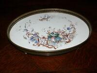 über 100 Jahre alte Schale Platte Untersetzer Keramik glasiert mit Bemalung