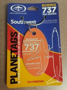 Boeing 737 Southwest Aircraft Skin Plane Tag / Planetags