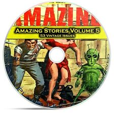 Amazing Stories Vol 5, 53 Classic Pulp Magazine, Fiction, Hugo Gernsbeck DVD C35