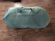 Military Duffle Bag Rucksack Olive Green Nylon Heavy Duty Army Duffel USGI VG