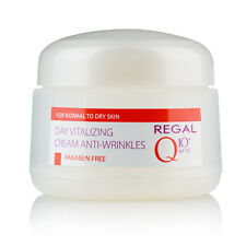 Crema de día revitalizante anti-arrugas piel normal a seca SPF 15, Regal Q10+
