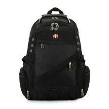 Swiss Backpack Laptop Bag Man Travel Large Rucksack Fashion Bottle Music Pocket