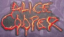 ALICE COOPER PATCH LOGO I'M 18 SHOCK ROCK HARD ROCK HEAVY METAL CLASSIC ROCK